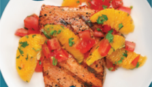 Grilled Salmon with Citrus Tomato Salsa