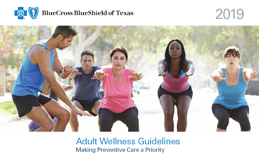 Texas Adult wellness guidelines