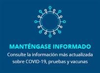 Manténgase Información COVID-19