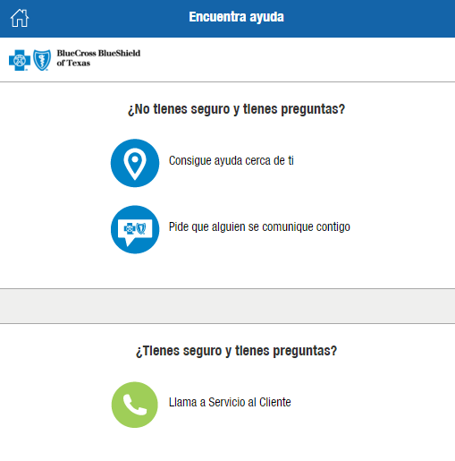 Assistance Finder TX preguntas