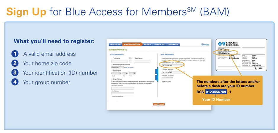 Blue Access for Members how to register